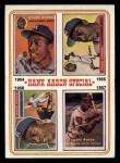 1974 Topps #2  Hank Aaron Special 54-57  -  Hank Aaron Front Thumbnail