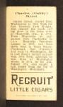 1912 T207 #177   Gabby Street   Back Thumbnail