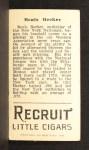 1912 T207 #10  Beals Becker    Back Thumbnail