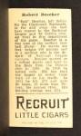 1912 T207 #13  Bob Bescher  Back Thumbnail