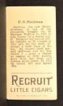 1912 T207 #74   Ed Hallinan   Back Thumbnail