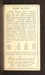 1911 T205 #67  John Flynn  Back Thumbnail