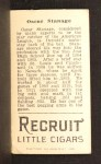 1912 T207 #173  Oscar Stanage    Back Thumbnail