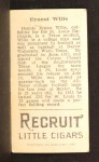 1912 T207 #196   Ernest 'Dewey' Wilie   Back Thumbnail