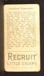 1912 T207 #181   Lee Tannehill   Back Thumbnail