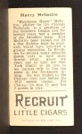 1912 T207 #119  Harry McIntire    Back Thumbnail