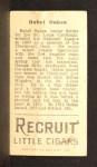 1912 T207 #142   Rebel Oakes   Back Thumbnail