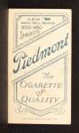 1909 T206 #357  Tom Needham  Back Thumbnail