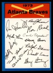 1973 Topps Blue Team Checklists  Atlanta Braves  Front Thumbnail
