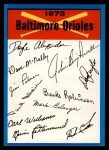 1973 Topps #2  Orioles Team Checklist  Front Thumbnail