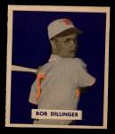 1949 Bowman #143 SCR Bob Dillinger  Front Thumbnail