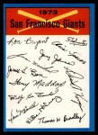 1973 Topps #22  Giants Team Checklist  Front Thumbnail