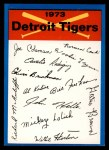 1973 Topps #9  Tigers Team Checklist  Front Thumbnail
