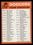 1973 Topps Blue Team Checklists  Los Angeles Dodgers  Back Thumbnail
