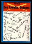 1973 Topps Blue Team Checklists  Los Angeles Dodgers  Front Thumbnail
