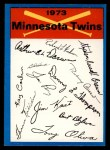 1973 Topps Blue Team Checklists #14   Minnesota Twins Front Thumbnail