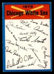 1973 Topps Blue Team Checklists  Chicago White Sox  Front Thumbnail