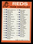 1973 Topps Blue Team Checklists  Cincinnati Reds  Back Thumbnail