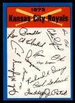 1973 Topps Blue Team Checklists #11   Kansas City Royals Front Thumbnail