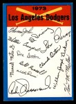 1973 Topps #12  Dodgers Team Checklist  Front Thumbnail