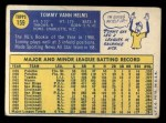 1970 Topps #159   Tommy Helms Back Thumbnail