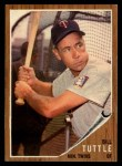 1962 Topps #298  Bill Tuttle  Front Thumbnail