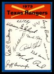 1973 Topps Blue Team Checklists #24   Texas Rangers Front Thumbnail