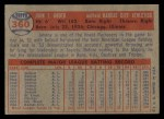1957 Topps #360   Johnny Groth Back Thumbnail