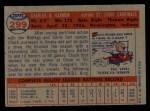 1957 Topps #299   Chuck Harmon Back Thumbnail