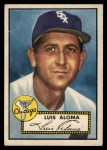 1952 Topps #308   Luis Aloma Front Thumbnail