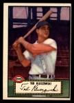 1952 Topps #29 BLK  Ted Kluszewski Front Thumbnail