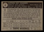 1952 Topps #68 BLK  Cliff Chambers Back Thumbnail