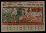 1956 Topps #191   Frank Lary Back Thumbnail
