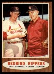 1962 Topps #306  Redbird Rippers  -  Lindy McDaniel / Larry Jackson Front Thumbnail