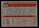 1957 Topps #226   Preston Ward Back Thumbnail
