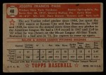 1952 Topps #48 ^RED^ Joe Page  Back Thumbnail