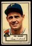 1952 Topps #150   Ted Beard Front Thumbnail