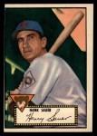 1952 Topps #35 BLK  Hank Sauer Front Thumbnail