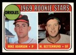 1969 Topps #66  Orioles Rookies  -  Mike Adamson / Merv Rettenmund Front Thumbnail