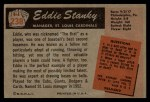 1955 Bowman #238   Eddie Stanky Back Thumbnail