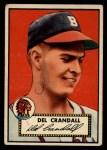 1952 Topps #162   Del Crandall Front Thumbnail