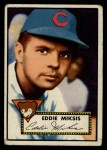 1952 Topps #172  Eddie Miksis  Front Thumbnail