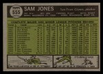 1961 Topps #555   Sam Jones Back Thumbnail