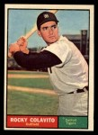 1961 Topps #330   Rocky Colavito Front Thumbnail