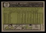 1961 Topps #37  Charlie Maxwell  Back Thumbnail