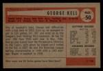 1954 Bowman #50   George Kell Back Thumbnail