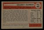 1954 Bowman #47 ALL  Granny Hamner Back Thumbnail