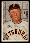 1952 Bowman #155  Billy Meyer  Front Thumbnail