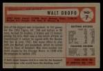 1954 Bowman #7  Walt Dropo  Back Thumbnail