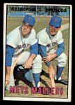 1967 Topps #186  Mets Maulers  -  Ed Kranepool / Ron Swoboda Front Thumbnail